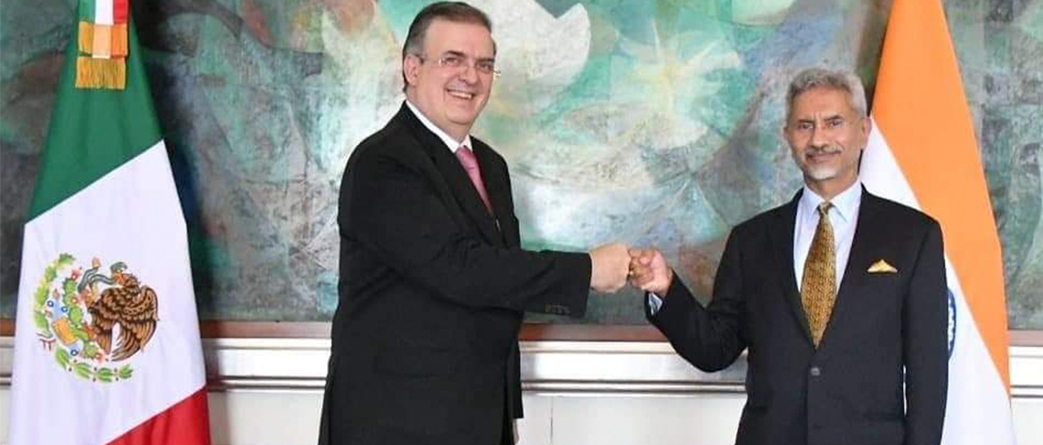 EAM Dr.S.Jaishankar concluded a comprehensive  discussion with Mexico's Foreign Minister H.E.Marcelo Ebrard