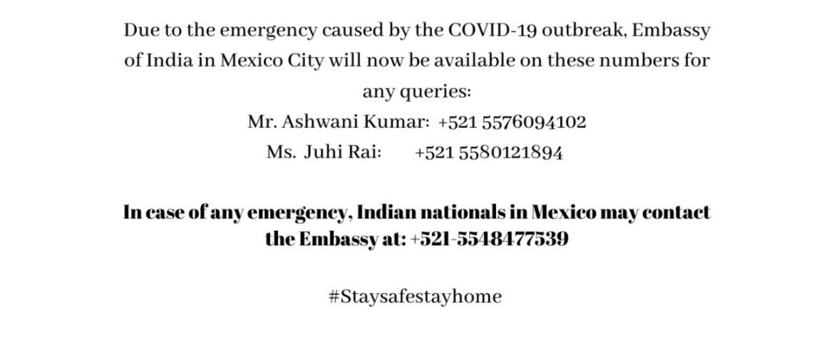 Emergency Contact Number COVID - 19