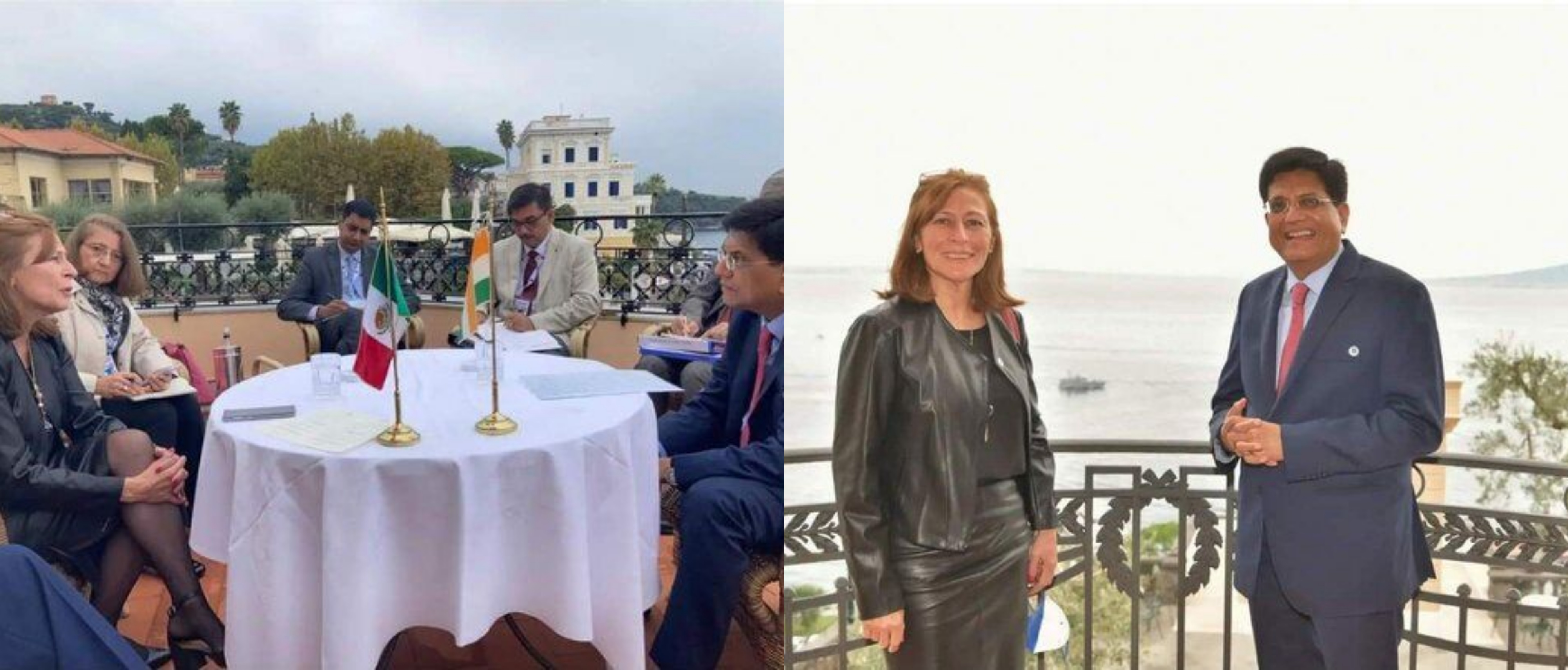 India's Minister of Commerce and Industry Shri. Piyush Goyal  met Mexico's Secretary of Economy Ms.Tatiana Clouthier  in Italy before the G20 Trade Minister's Meeting on 11th October 2021