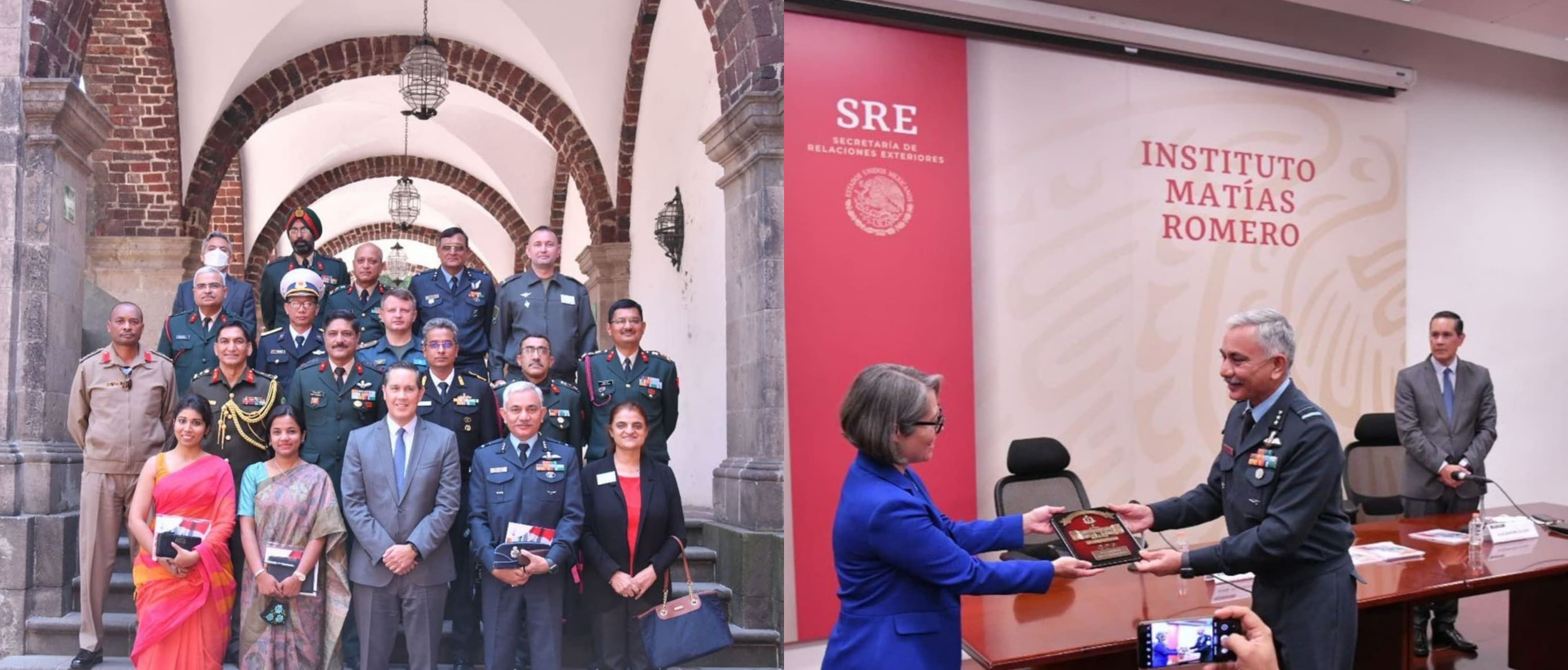 National Defense College (NDC) delegation from India visited the diplomatic training academy of Mexico, Instituto Matias Romero (IMR)